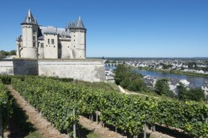 Saumur Chateaux in the Loire Valley, France.