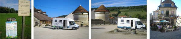 Motorhomes parked on France Passion locations