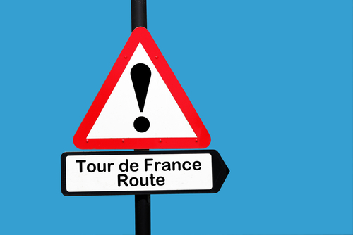 Tour de France Route road sign