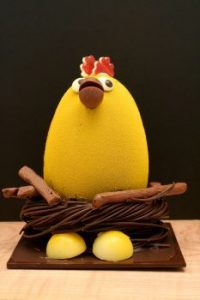 Easter chocolate hen egg