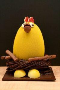 Easter chocolate hen egg