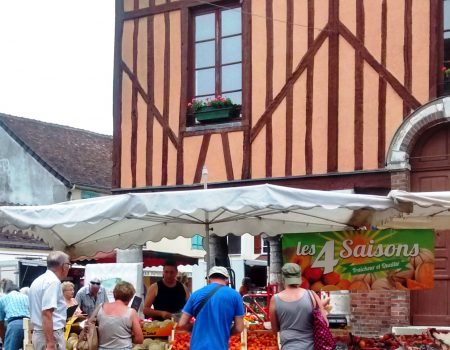 Take your campervan to a French produce market