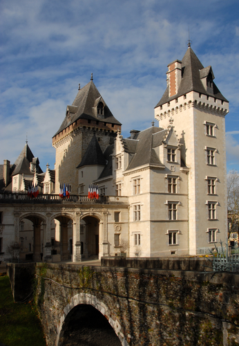 Pau Castle, in the Pyrénées Atlantiques area of south-west France: stage 8 of the Tour de France on 9 July