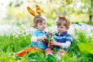 Easter egg hunt in France