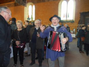 Strolling Accordion Player at Wine Festival