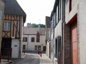An ancient street in St Julien du Sault, Burgundy