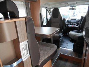 Euro-Explorer Compact Prestige Dinette viewed from the back