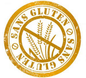 The gluten-free stamp 'Sans Gluten' seen on produce in France