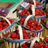 Fresh fruit in abundance...like these juicy strawberries