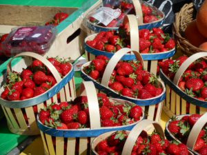 Fresh fruit and vegetables in abundance all over France