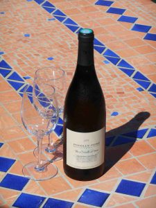 Chilled Poilly Fumé from the Loire Valley