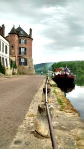 Early morning walk in Villeneuve-sur-Yonne, Burgundy