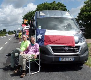 Frank and April Rippel get up close to the TDF in a Euro-Traveller Prestige campervan