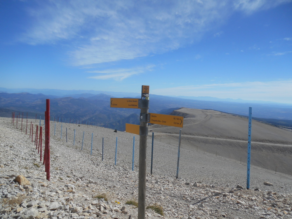 View from the top of Mount Ventoux, stage 12 of the Tour - it is very high up!