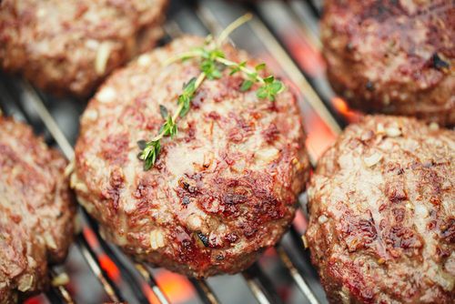 Homemade burgers for al fresco dining