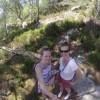 Iva and Michaela enjoying Fontainbleau forest