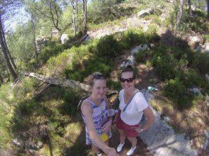 Iva and Michaela enjoying Fontainebleau forest