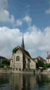 The church on the island in Sens - a feature of the walking tour of the city