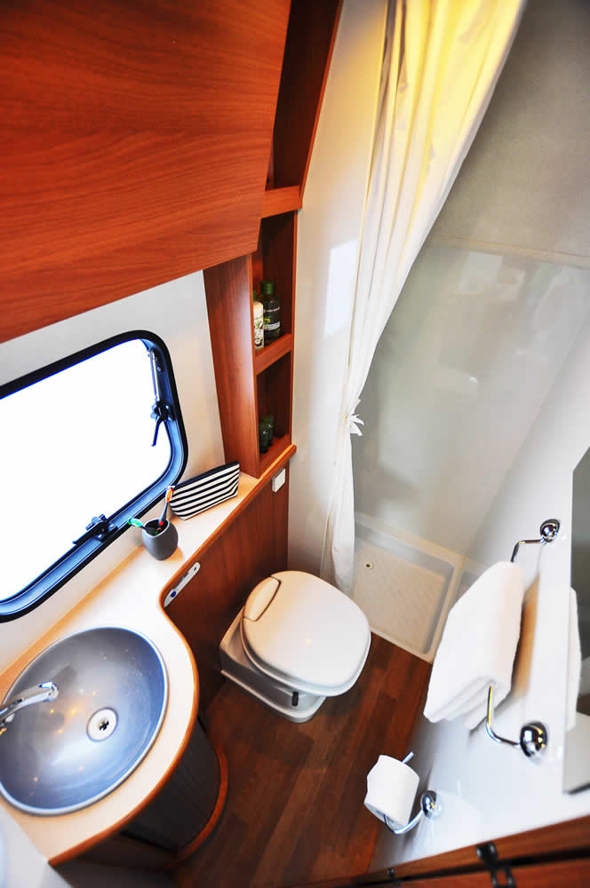Bathroom in the Euro-Explorer motorhome