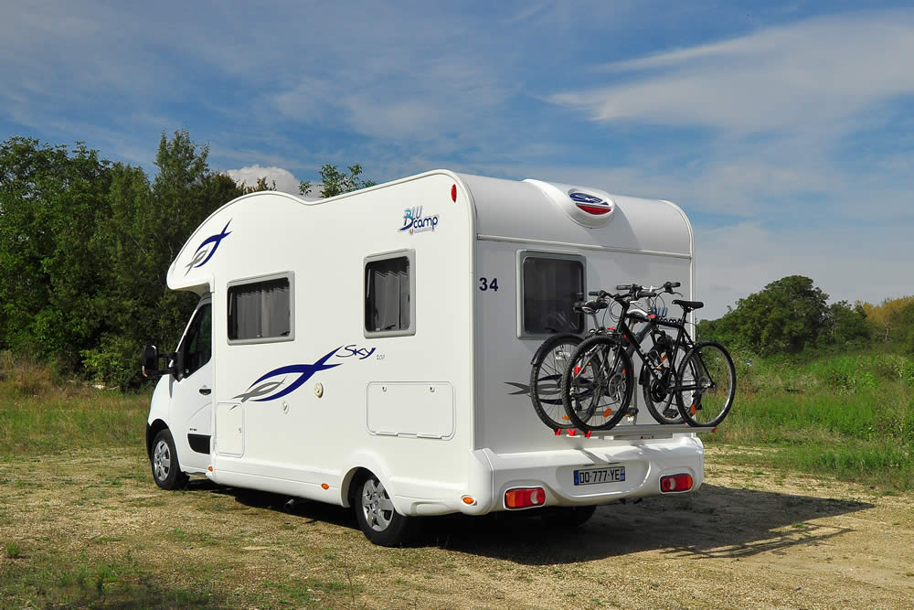 Rear view of the Euro Explorer motorhome