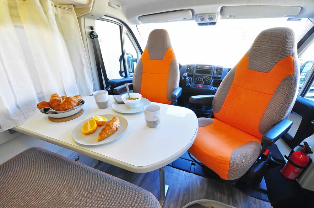 Euro-Traveller campervan dinette
