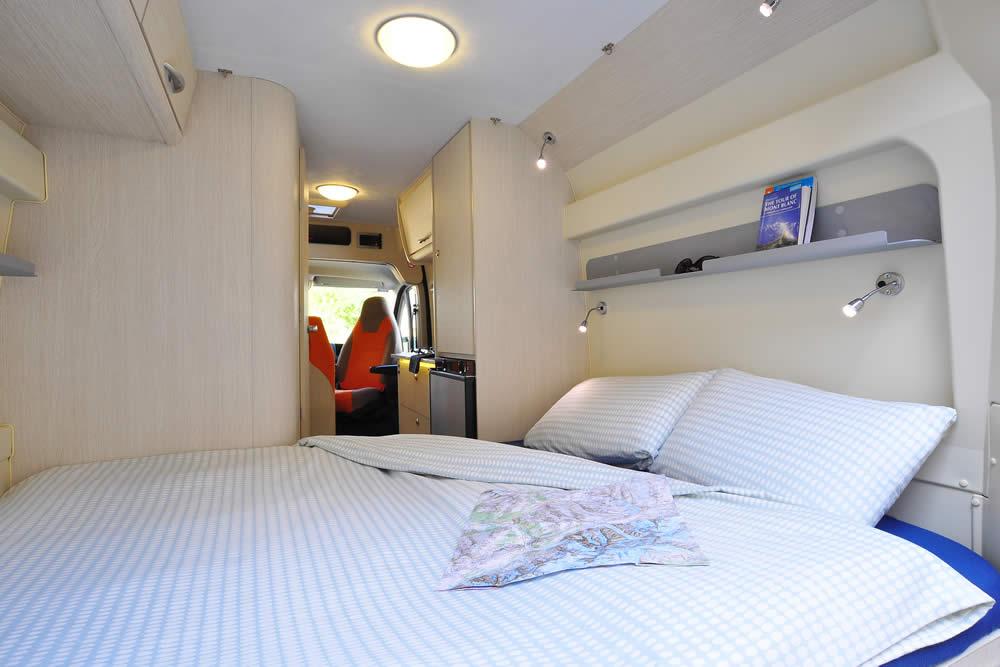 Euro-Traveller campervan bedroom