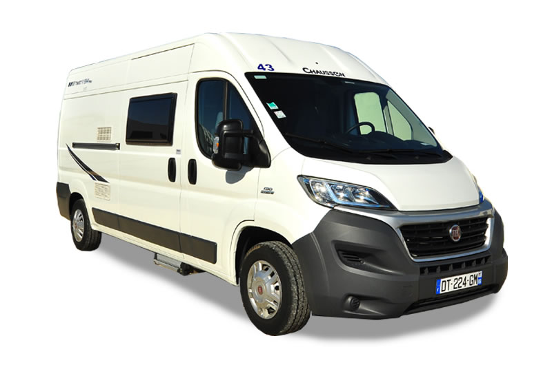 Front view of the Euro-Traveller campervan