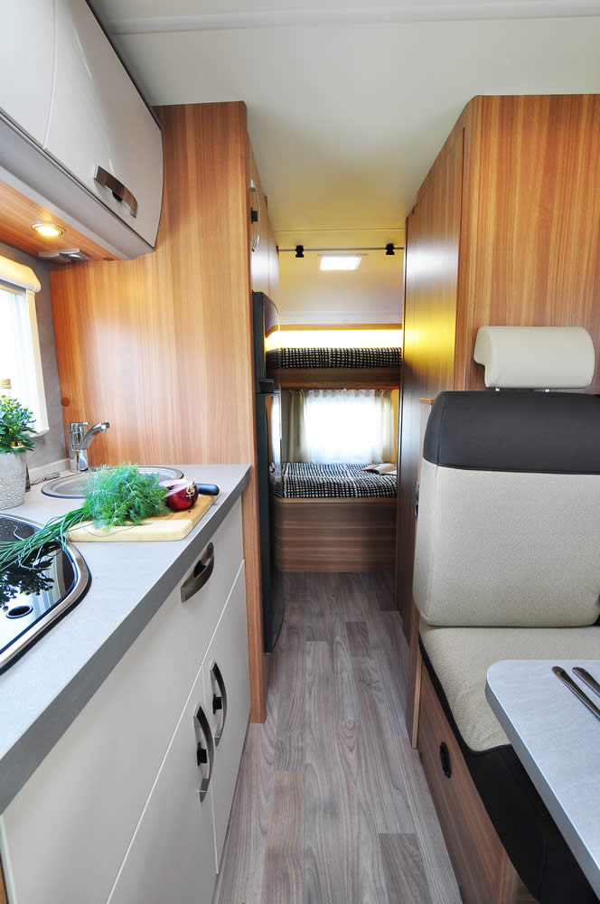 Euro-Voyager Prestige motorhome front to back view