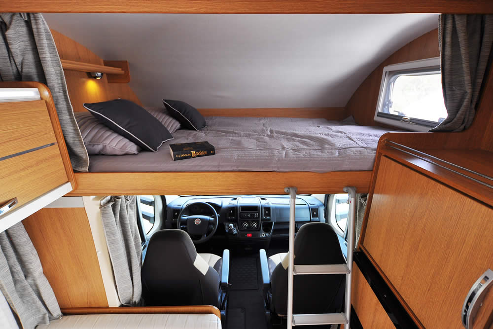 Euro-Voyager motorhome bedroom
