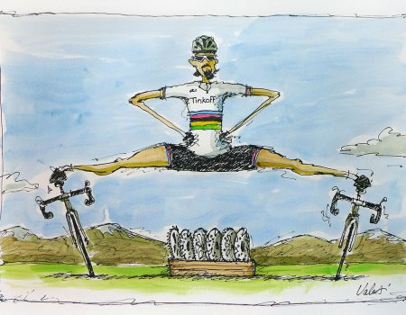 Top cycle artist follows Tour de France in a FMH motorhome