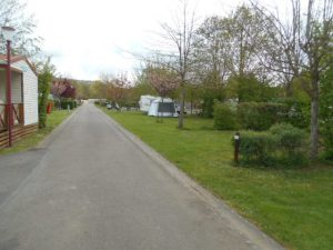 View of a road in to a French campsite