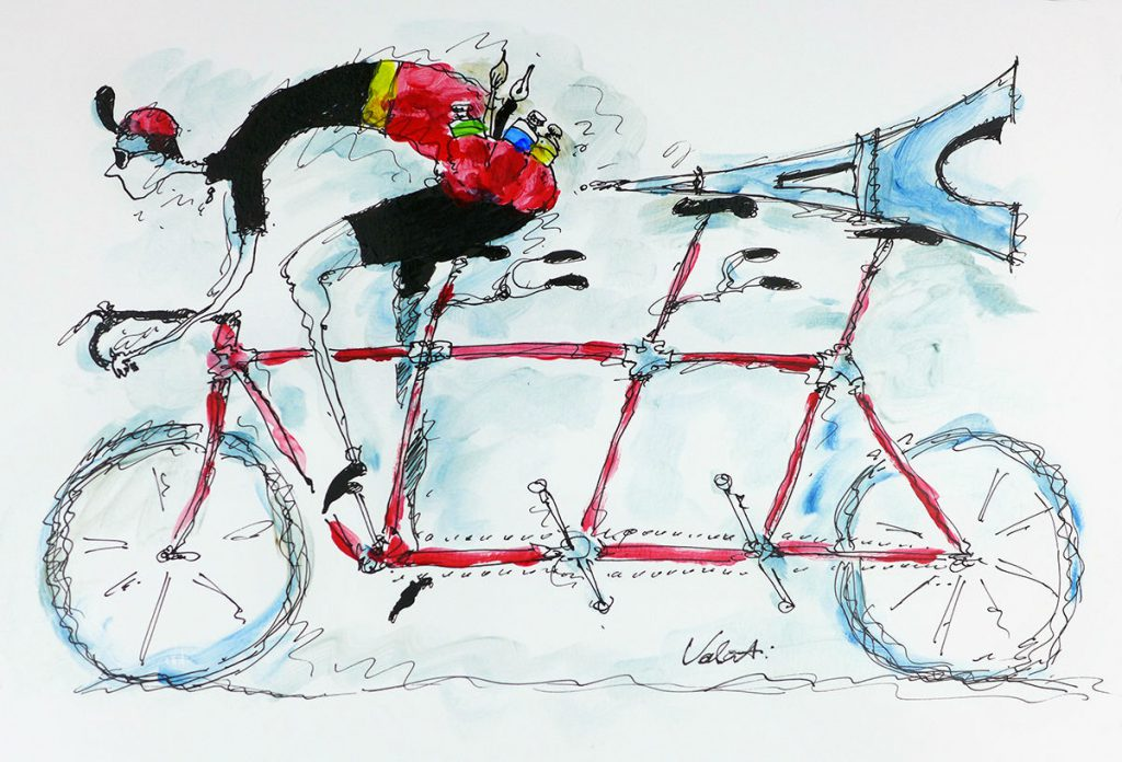 Top cycle artist Michael Valenti to follow Le Tour de France in France Motorhome Hire vehicle