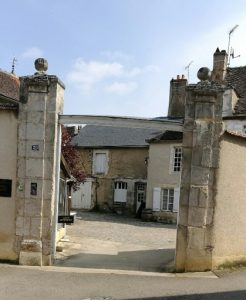 The entrance to the chateau in St Bris, France