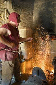 Baking sourdough in an authentic medieval oven at Guédelon castle