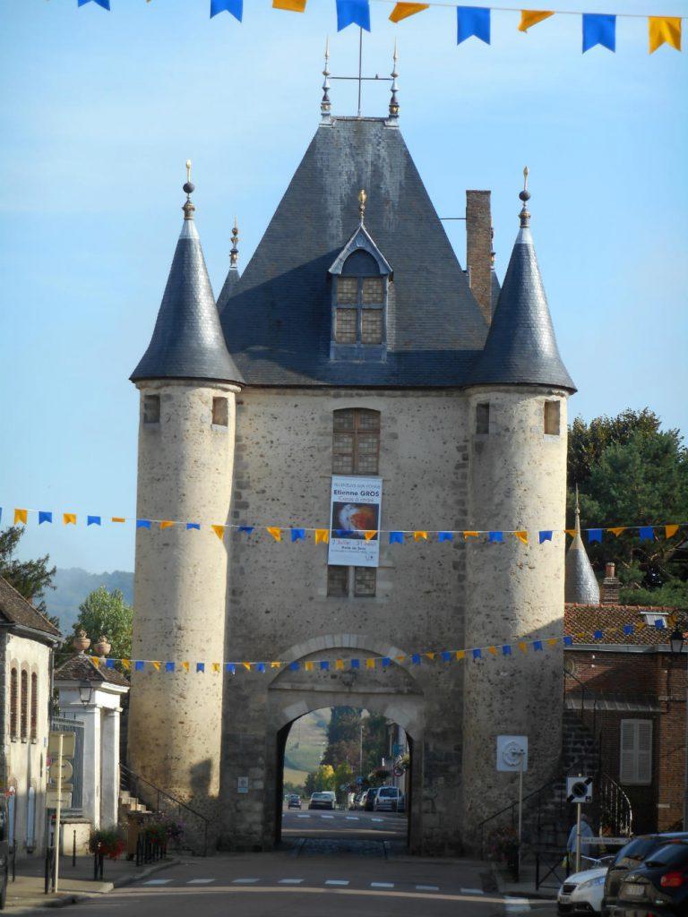 The turretted Porte de Sens at Villeneuve-Sur-Yonne, France