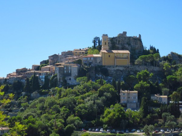 A French village perched on top of a hill