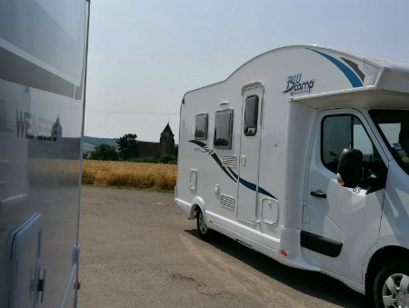 It's hot here in France but our motorhomes are cool!