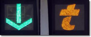 French autoroute symbols on tolls