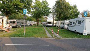 Campsite at Dusseldorf Motorhome Show