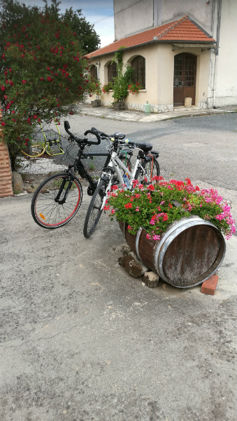 Bikes resting in Lot Valley village