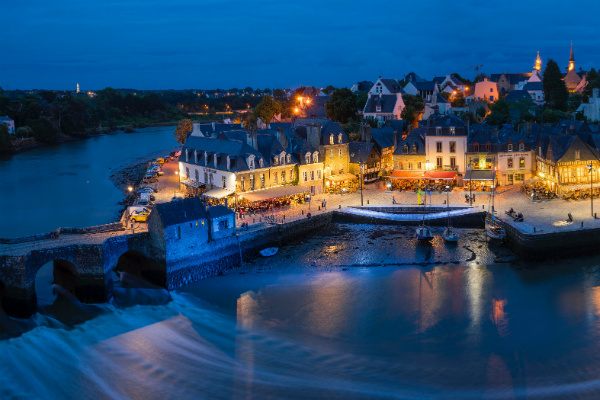 Auray, Brittany on an October night