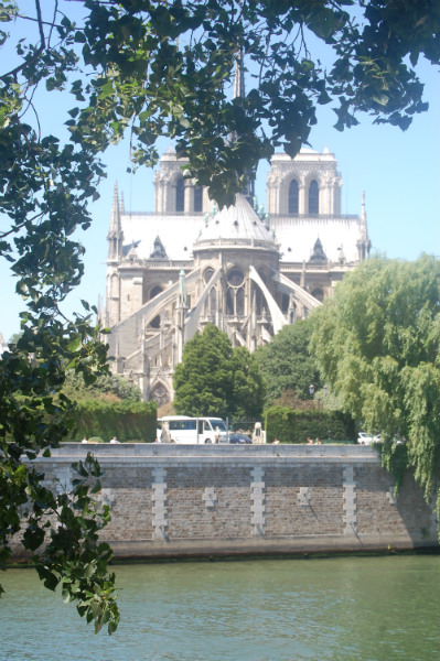 Notre Dame, one of the many architechtural delights of Paris