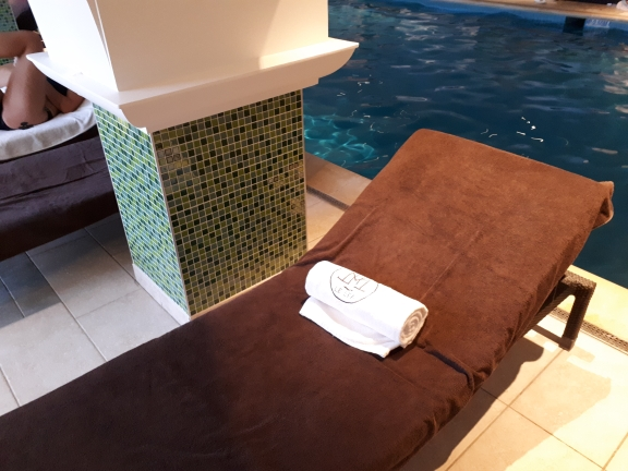 Comfortable loungers at La Cote St Jacques Spa, Joigny