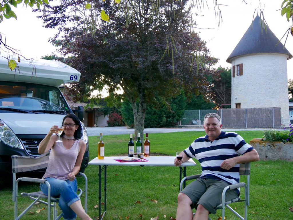 Kerri and Sterling enjoying a good selection of wines