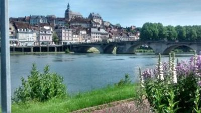 The pretty town of Joigny on The River Yonne near the France Motorhome Hire Depot
