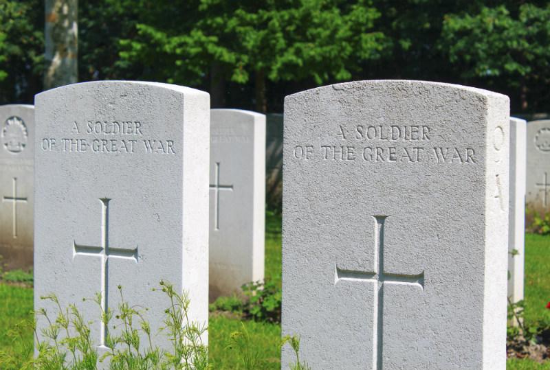 WWI grave stones