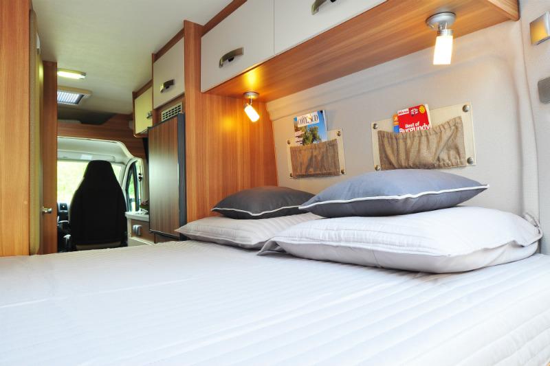 Inside a cosy France Motorhome Hire Euro-Traveller Prestige campervan