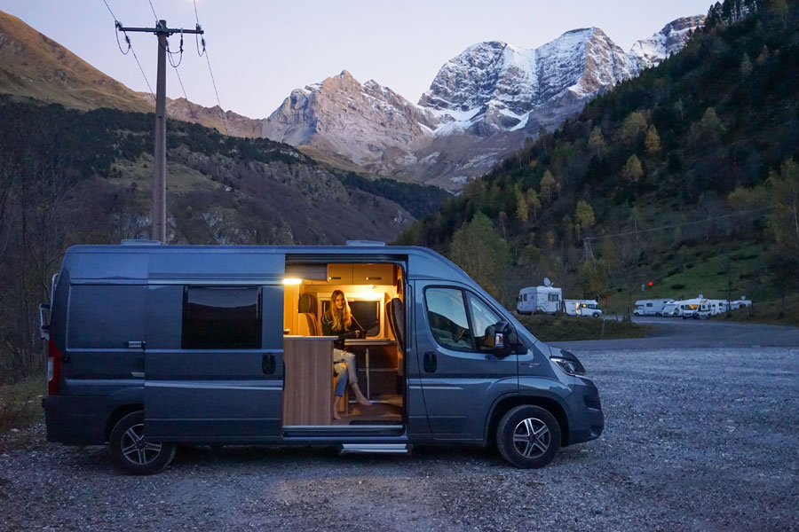 warm and cosy motorhome