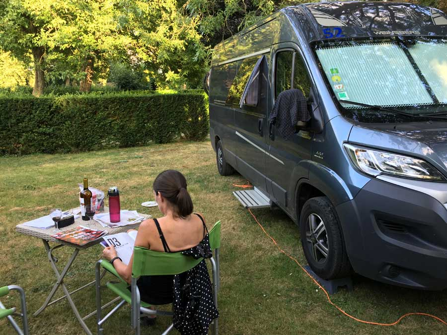 You will often be the only campervan spending the night at a France Passion stop