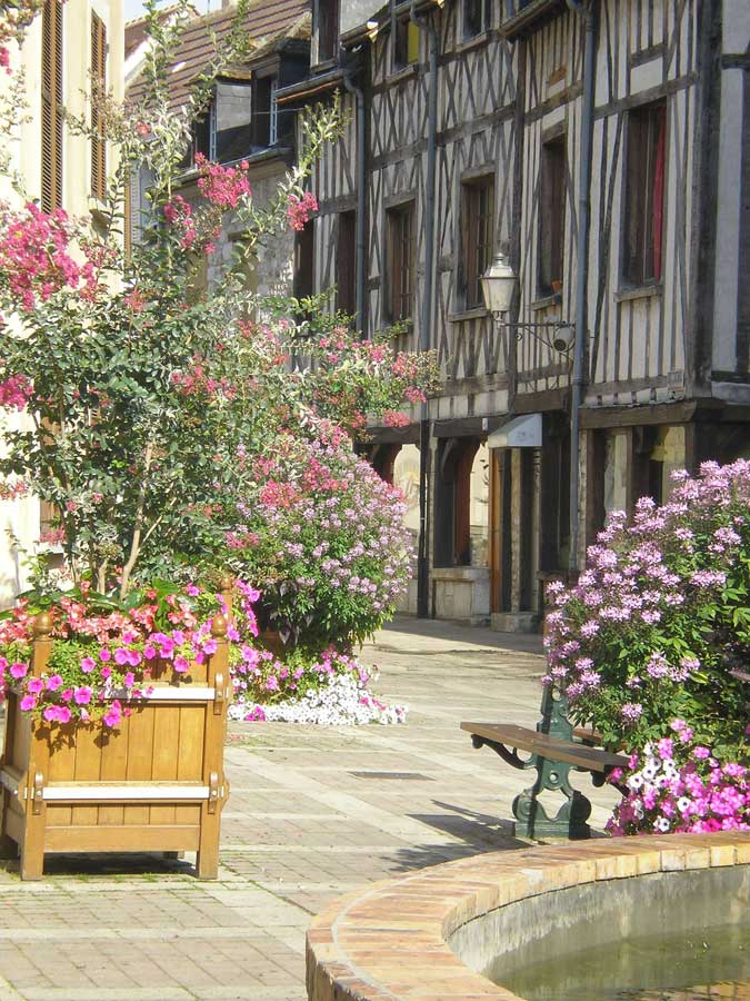 Half timbered buildings are the typical style in the city of Troyes